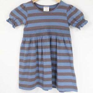 Matilda Jane Girls Striped Dress sz 4 Smocked
